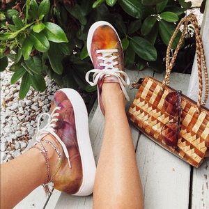 The Galaxy Canvas Tie Dye Platform Sneakers